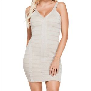 Rose Gold Bandage Dress by GUESS